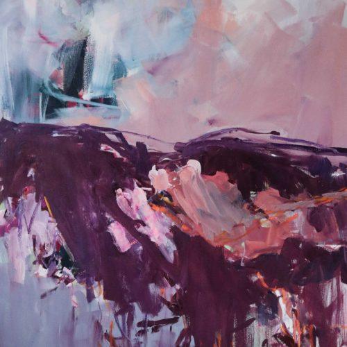 Waldfrühling   Acryl, Öl und Pastell auf Leinwand   100 x 80   2021