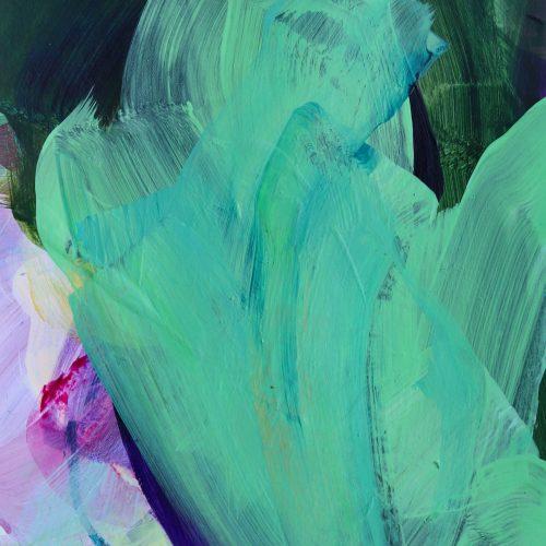 Wild Bloom #1    17 x 24 cm ungerahmt   26,5 x 33,5 cm  inkl. Passepartout und Rahmen   Acryl auf Papier